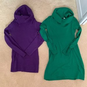 Lot of 2 Cowlneck sweaters. One is NWT